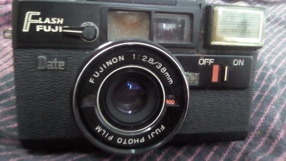 Camera Fujica Flash Date Fuji Photo Japan Restauro Coleção