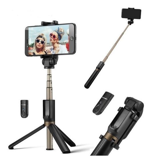 Pau Selfie Monopod + Tripé Profissional Recarregável Blitzwolf Bluetooth