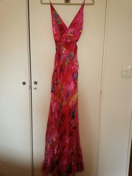 Vestido De Fiesta Camomille T 44 Nuevo De Seda Natural