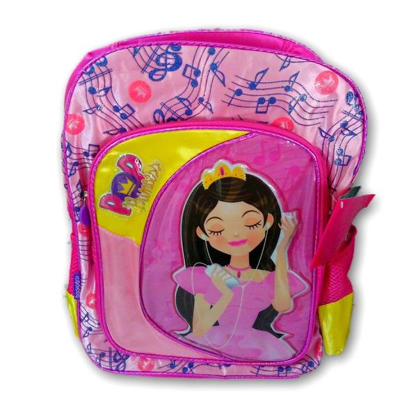 Mochila Infantil Rosa Pop Princess Menina Pronta Entrega