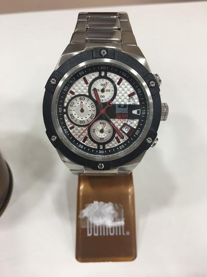Relógio De Pulso Dumont Sy20441 Prata E Preto Masculino