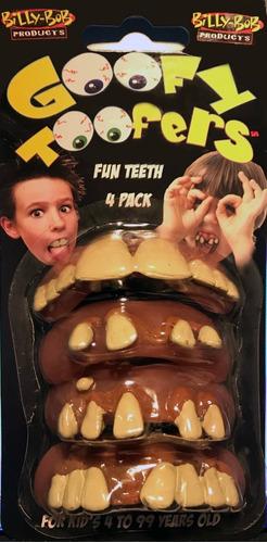 Imagen 1 de 1 de Goofy Toofers Dientes De Broma - Set 4 Diferentes Dentaduras