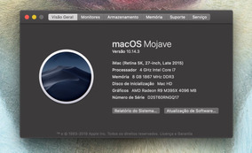 iMac 5k 2015 I7 4gb Vídeo 2tb Fusion Drive 8gb E Apple Care