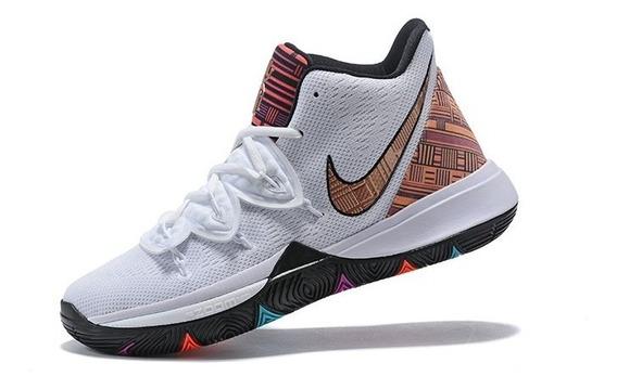 Tênis Nike Kyrie 5 Black History Month - Branco/marron