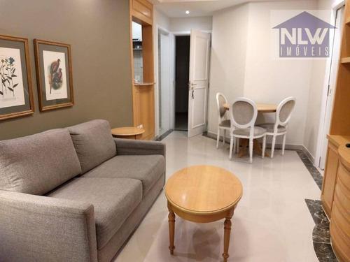 Apartamento Com 1 Dormitório Para Alugar, 38 M² Por R$ 3.600,00/mês - Indianópolis - São Paulo/sp - Ap2613