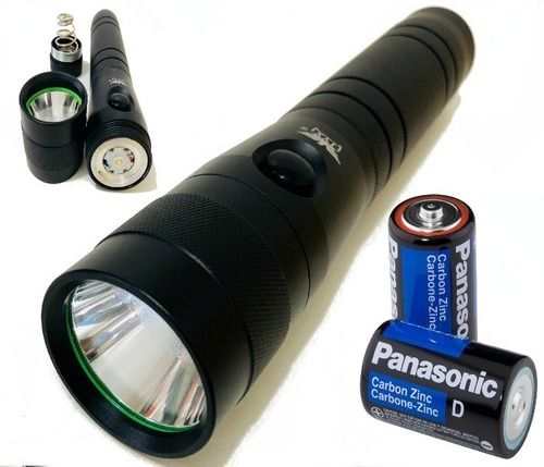 Lanterna Tamanho Grande A Pilhas / Potente / Forte / Led Q5