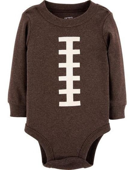Body Manga Larga Futbol Americano Carters 18m Ropa Bebes