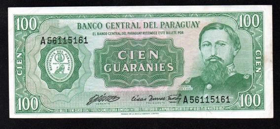 Paraguay Billete 100 Guaranies Año 1952 P#205