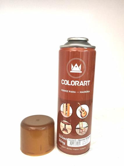 Spray Verniz Mogno Para Madeira Colorart 300ml Moveis Porta
