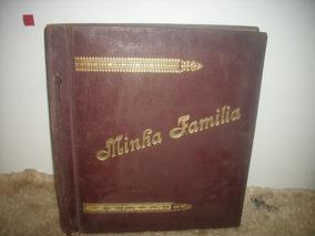 Antigo Album P/ Foto/ Minha Familia ;c/23folhas ; Md;25 /30