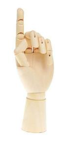 Mão Articulada Madeira 21cm Desenho Arte Decor Vitrine