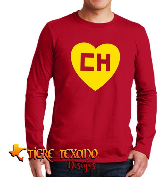 Playera Manga Larga Chapulín Colorado Chespirito T T Designs