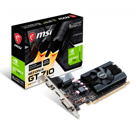 Placa De Video Msi Geforce Gt 710 2gb Low Profile
