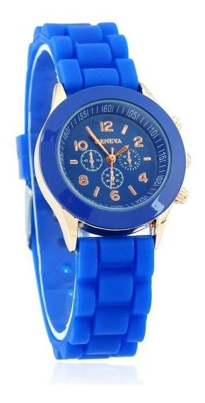 Reloj Geneva Mujer Silicon Moda Niña Por Pieza A482
