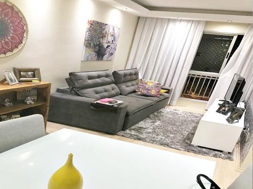 Imagem 1 de 11 de Apartamento Golden Ville 54m² Mobiliado 2 Dormitórios 1 Vaga