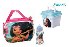 Kit Escolar Da Moana Lancheira Térmica + Squeeze + Mini Box