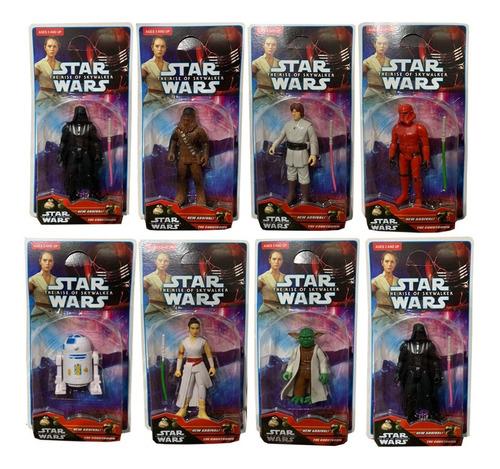 Muñecos Star Wars Articulado Darth Vader Yoda C3po Chewbacca