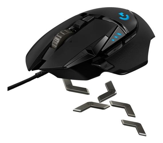 Mouse Gamer Logitech G502 Hero 16000dpi Rgb Óptico 11 Botões