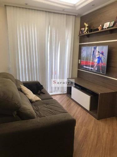 Apartamento Com 2 Dormitórios À Venda, 56 M² Por R$ 300.000,00 - Dos Casa - São Bernardo Do Campo/sp - Ap3961