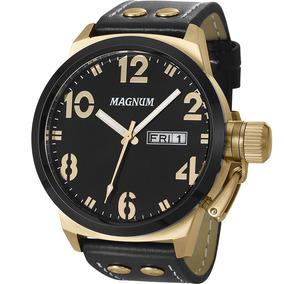 Relógio Magnum Masculino Couro - Ma32783u