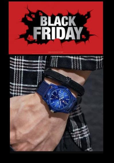 Relógio Masculino Casual Nylon