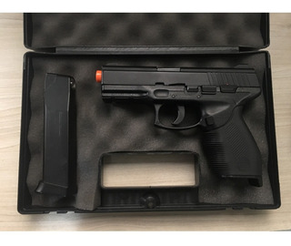 Pistola De Airsoft Kwc Co2 Pt24/7 Slide Metal 440 Fps