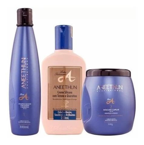 Aneethun Linha A Hidratação Capilar Profunda  Kit 3 Produtos