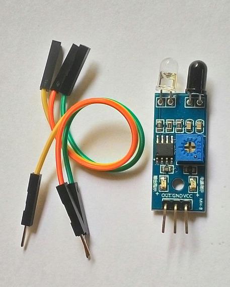 Sensor De Obstáculo Infravermelho Lm393 + Cabo Para Arduino
