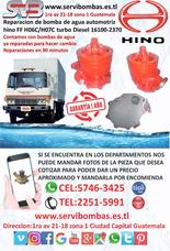 Reparación De Bomba De Agua Automotriz Hino Ff H06c,h07c
