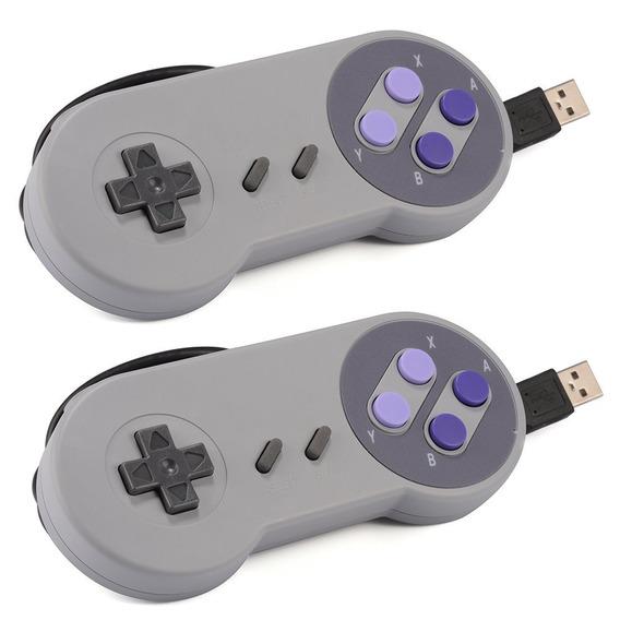 2pcs Usb Clássico Gamepad , Jogo Controlador Para Snes - Cin