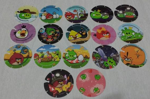 Lote De 17 Tazos Diferentes De Angry Birds Argentina 2012