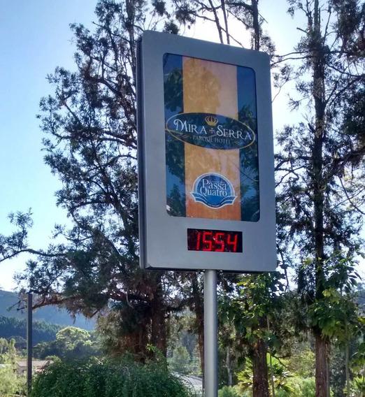 Relógio Termômetro De Rua Com Hora/data/temperatura