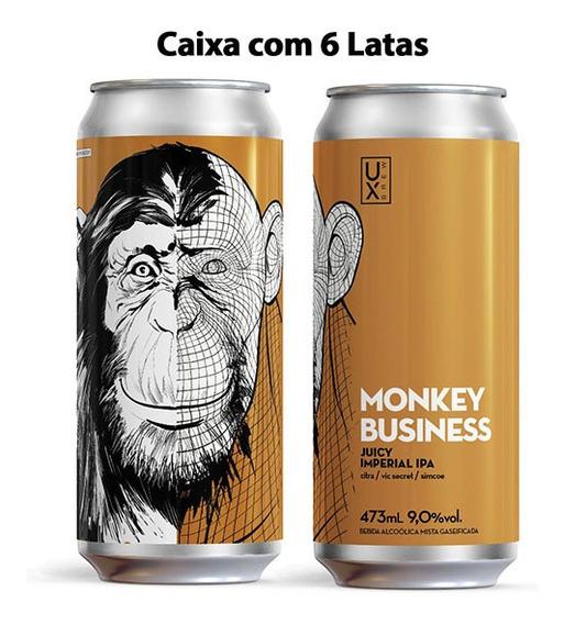 Cerveja Ux Brew, 3 Monkeys, Spike Monkey Business Caixa C/ 6