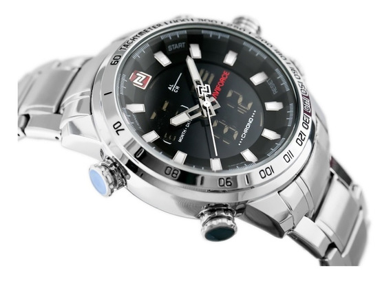 Relógio Masculino Militar Luxo Naviforce Original Nf9093
