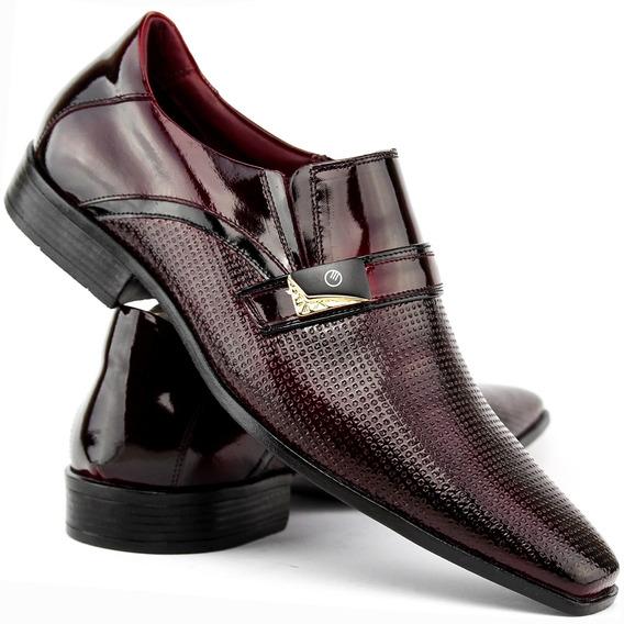 Sapato Social Masculino Em Couro Ótimo Preço - Frete Grátis
