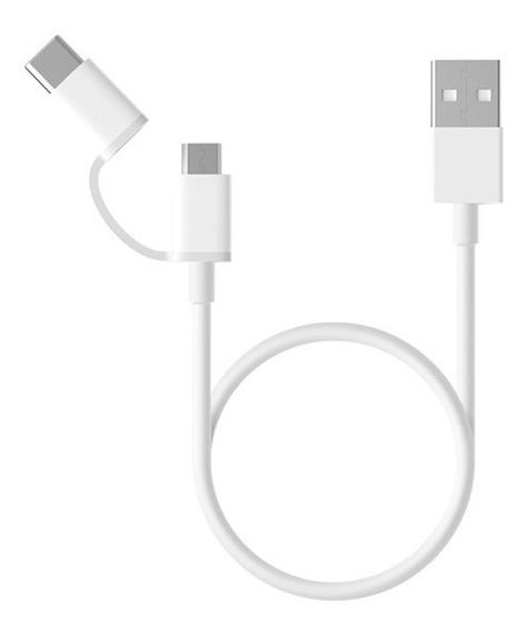 Cable Datos Xiaomi Original 2 En 1 Usb Tipo C - Microusb