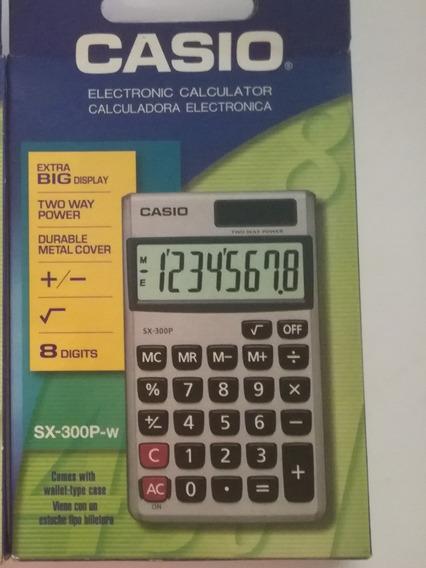 Calcuradora Casio 8 Digitos Sx-300p-w