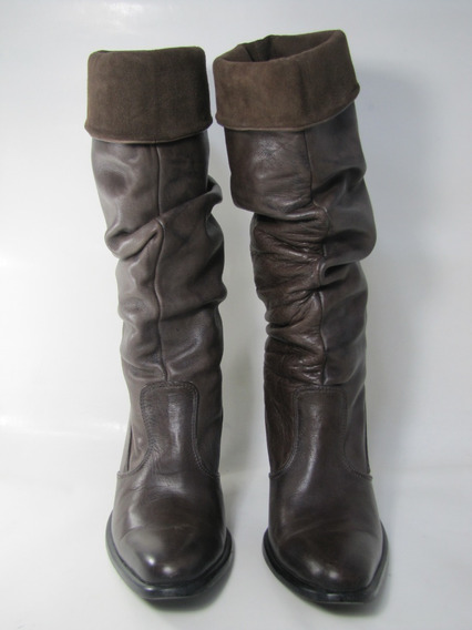 Zapatos Botas Bruno Ferrini Cuero Marrón Talla 37 Envío Grat