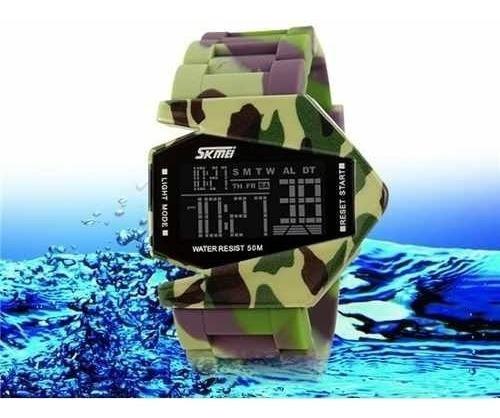 Relógio Militar Camuflado Skmei Prova D