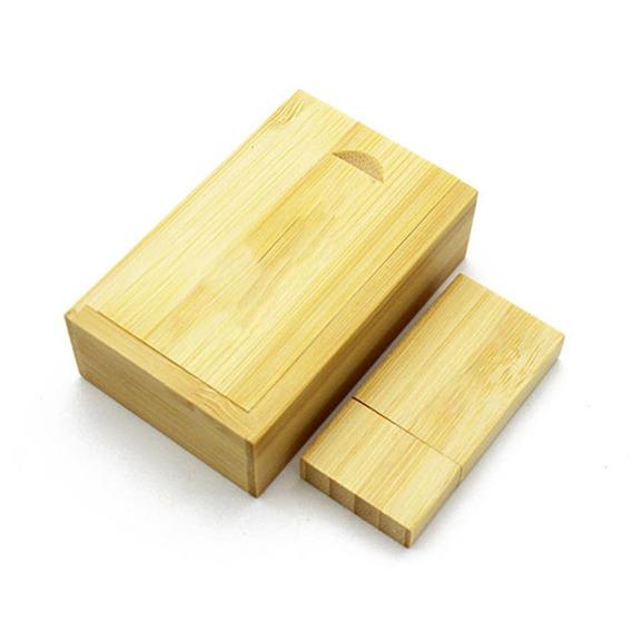 Universal Bamboo Usb Flash Distância Foto Álbum Caixa Portát