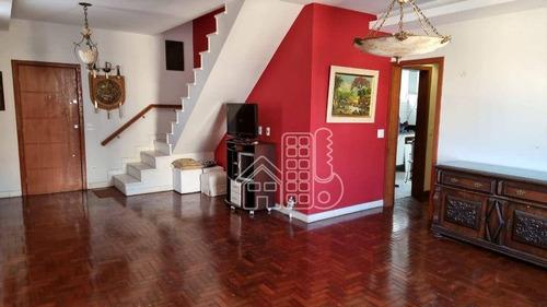 Imagem 1 de 30 de Cobertura Com 3 Dormitórios À Venda, 240 M² Por R$ 2.200.000,00 - Icaraí - Niterói/rj - Co0466