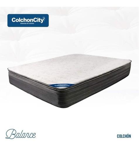 Colchon De Resortes Con Pillow Reforzado King Size 2 X 2