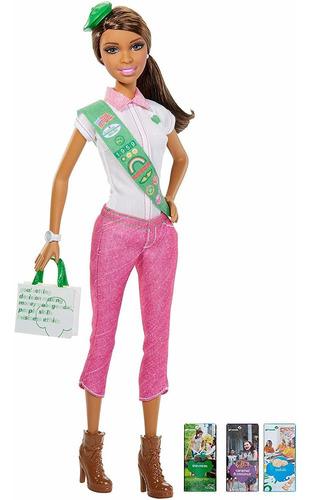 Boneca Barbie Escoteira Brunette Morena Rara Top