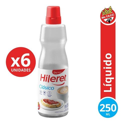 Endulzante Hileret Clásico 250 Ml. Pack X 6