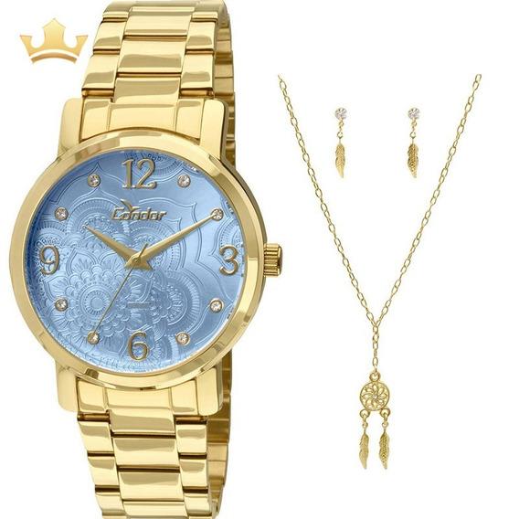 Relógio Condor Feminino Kit Co2036co/k4a Com Nf