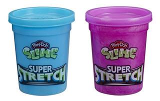 Play Doh Slime Super Stretch Texturas - Morado Y Azul