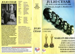 Julio Cesar Vhs Marlon Brando.1953 Opc Digital Pen Mem O Dvd