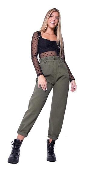 Pantalon Baggy Jean Mujer Boyfriend Mom Slouchy Rígido