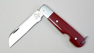 Canivete Inox Barretos Cabo Acrílico Vermelho Aço Inox 420