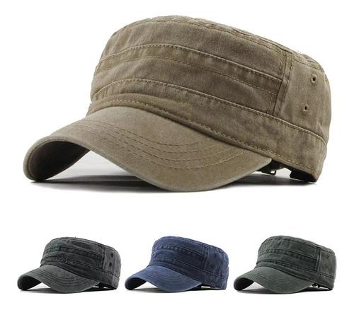 Gorro Tipo Militar Sombrero Sport  Azul, Verde, Negro, Beige